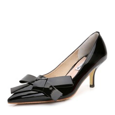 Women's Patent Leather Stiletto Heel Pumps With Bowknot shoes (085105634)