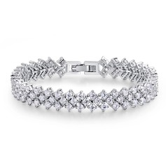 Gorgeous Alloy/Zircon Ladies' Bracelets