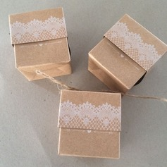 Cubic Card Paper Favor Boxes