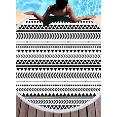 Striped round/attractive Beach towel