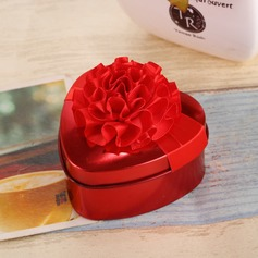 Flower Design Heart-shaped Favor Tin With Flowers