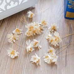 Ladies Exquisite Silk Flower Hairpins (Set of 3)
