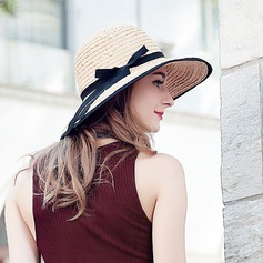 Ladies' Fashion/Elegant Raffia Straw With Bowknot Straw Hat