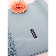 Solid Color Oversized/Shawls Artificial Wool Scarf (204172725)