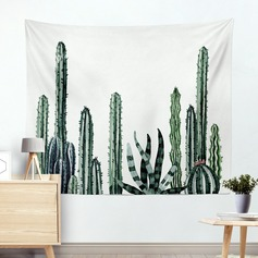 plant print Wall Hanging Tapestry Bohemian Room Decor Bedding Rug (Sold in a single piece)