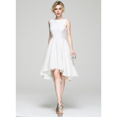 Robe Princesse Col rond Asymétrique Satiné Robe de cocktail (016081196)