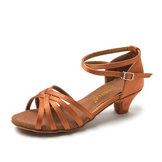 Women's Satin Leatherette Sandals Latin With Buckle Hollow-out Dance Shoes (053111584)