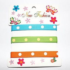 2/5-Inch Dot Satin Ribbon(Three Color One Card)