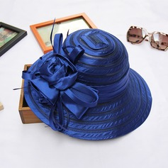 Ladies' Classic Organza With Flower Bowler/Cloche Hat
