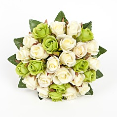 Special Round Artificial Silk Bridal Bouquets