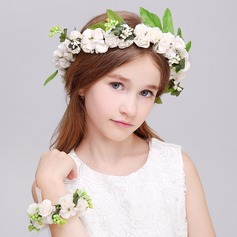 Plastic With Ribbon Flower Headband ( Including Wrist Corsage)  (198118549)