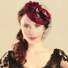Ladies' Romantic/Vintage Cambric With Silk Flower Fascinators