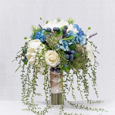 Charming Round Artificial Silk/Simulation PU Materials Bridal Bouquets -