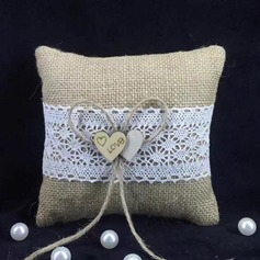 Classic Ring Pillow in Linen