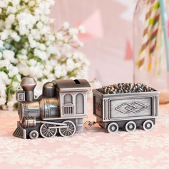 Train Shaped Tin Alloy Money Box
