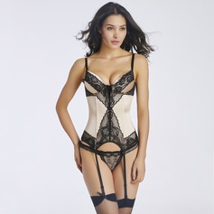 Women Feminine/Sexy Lace/Tulle Waist Cinchers With Lace Shapewear