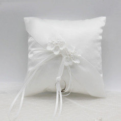 Chic/Delicate Polyester Ring Pillow With Ribbons