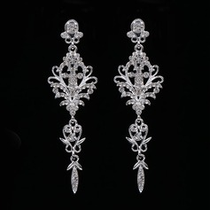 Elegant Alloy/Rhinestones With Rhinestone Ladies' Earrings