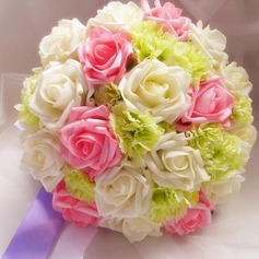 Girly Round Satin Bridal Bouquets -