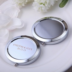 Personalized Round Iron Compact Mirror