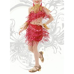 Kids' Dancewear Spandex Latin Dance Dresses