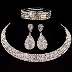 Shining Alloy Rhinestones Ladies' Jewelry Sets (137126024)