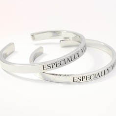 Personalized Ladies' Hottest 925 Sterling Silver With Round Engraved Rings For Bridesmaid/For Friends/For Couple