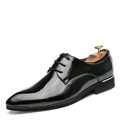 Men's Patent Leather Lace-up Casual Men's Oxfords