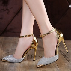 Women's Sparkling Glitter Stiletto Heel Pumps Closed Toe With Sparkling Glitter Buckle shoes