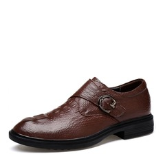 Men's Real Leather Monk-straps Casual Work Men's Oxfords