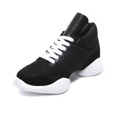 Women's Men's Leatherette Fabric Sneakers Practice Dance Shoes