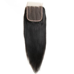 """4""""*4"""" 5A Straight Human Hair Closure (Sold in a single piece)"""