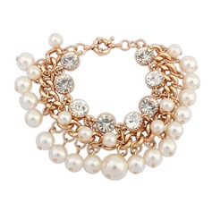 Gorgeous Alloy With Imitation Pearls Ladies' Bracelets