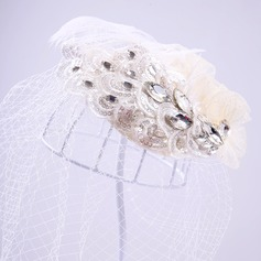 Dames Magnifique Feather/Dentelle/Strass Chapeaux de type fascinator/Chapeaux Tea Party