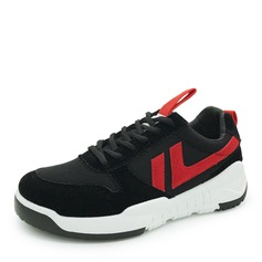Women's Suede Mesh With Lace-up Sneakers & Athletic