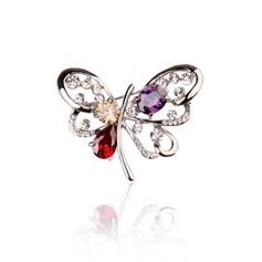 Alloy With Rhinestone Fashion Brooches (Sold in a single piece)