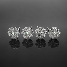 Fashion Rhinestone Alloy Hairpins (Set of 4) (042017910)