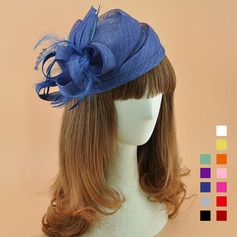 Dames Elegant Batist met Feather Fascinators