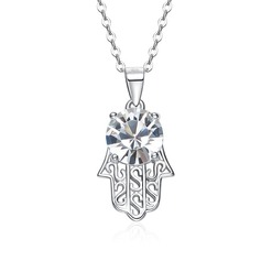 Ladies' Shining S925 Sliver Cubic Zirconia Necklaces For Bride/For Bridesmaid/For Friends