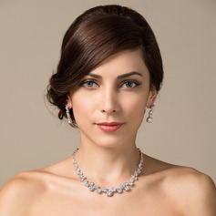 Shining Zircon/Platinum Plated Ladies' Jewelry Sets