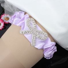 Charming Satin With Rhinestone Wedding Garters