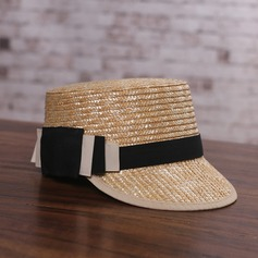 Ladies' Unique Rattan Straw With Bowknot/Flax Straw Hat