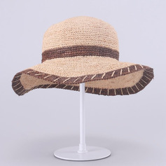 Ladies' Beautiful/Simple Raffia Straw Floppy Hats/Straw Hats/Beach/Sun Hats