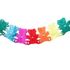 Colorful Bear shaped Paper Banner