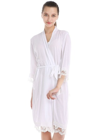 Lace Cotton Bride Bridesmaid Blank Robes Lace Robes