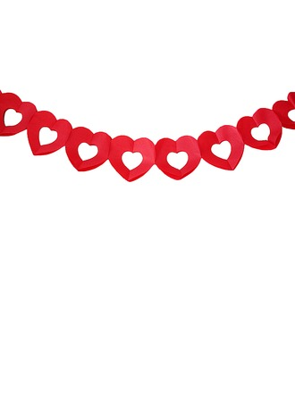 Red Heart Design Paper Photo Booth Props/Banner