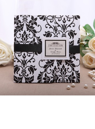 Individualisiert Blumen-Stil Wrap & Pocket Invitation Cards