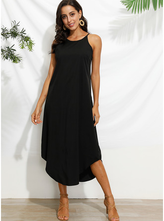 Round Neck Sleeveless Maxi Dresses