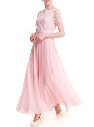 Chiffon With Beaded Maxi Dress