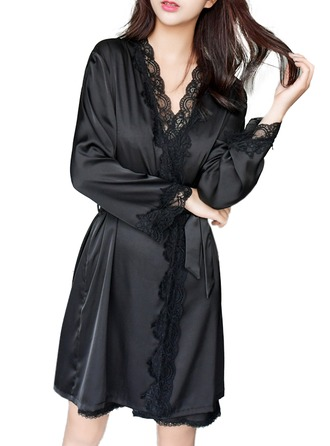 Silk Bride Bridesmaid Blank Robes Lace Robes